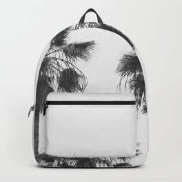 venice palms black and white Backpack