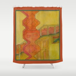 For the Squares: A Party at Auntie Mame's Shower Curtain