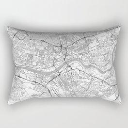 Newcastle upon Tyne Map Line Rectangular Pillow
