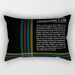 Philosophia II: I think, therefore I am Rectangular Pillow