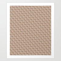 Brown & Swirly Art Print