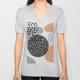 Memphis Style Abstract Unisex V-Neck