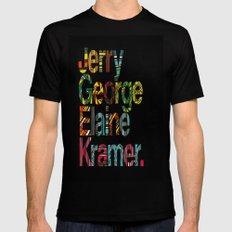 Jerry, George, Elaine & Kramer MEDIUM Black Mens Fitted Tee