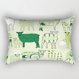 1960's patterns with sheeps in the hills Rectangular Pillow
