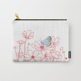 Cosmos and Butterfly Carry-All Pouch