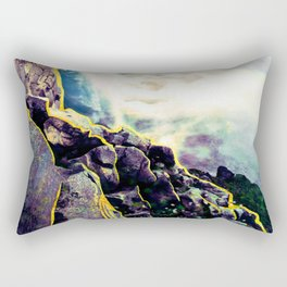 Abstract Mermaid Waves Blue and Purple Rectangular Pillow