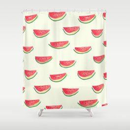 Watercolor Watermelon Shower Curtain