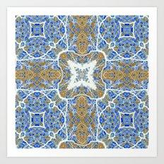 Internal Kaleidoscopic Daze- 4 Art Print