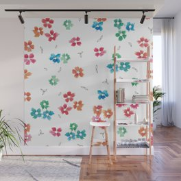 Floral Color Mix Wall Mural