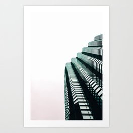 chicago look up architecture urban photography Art Print