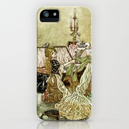 """""""Little Cinders and Her Sisters"""" by Charles Folkard iPhone Case"""