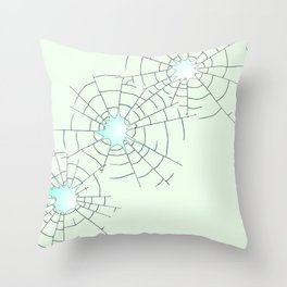 Bullet Holes in Glass Throw Pillow