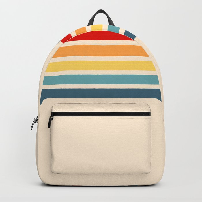 Takaakira - Classic Rainbow Retro Stripes Backpack
