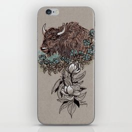 Buffalo Wildflower and Magnolias iPhone Skin