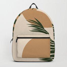 Boho leaves and sun modern art  Backpack