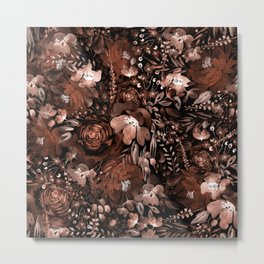 Floral Chaos - Dry flowers Metal Print