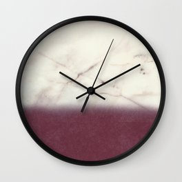 marble and purple Wall Clock