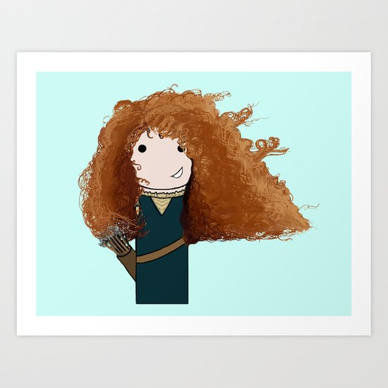 Merida Kokeshi Doll Art Print