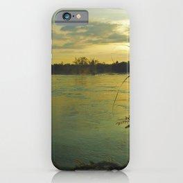 Evening Sunset on the Mekong River Landscape iPhone Case