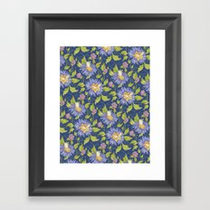 Watercolor pattern Framed Art Print