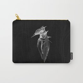 Kingfisher 1b.  White on black  background-(Red eyes series) Carry-All Pouch