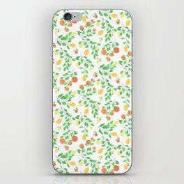 Oranges and Lemons White Edition iPhone Skin