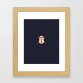 Calligrapha Beetle Framed Art Print