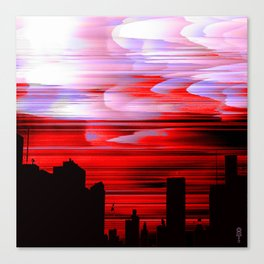 """Red Night Sky"" Canvas Print"