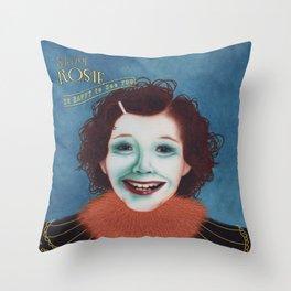 Shiny Rosie Throw Pillow
