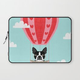 Boston Terrier dog breed hot air balloon dog art Laptop Sleeve