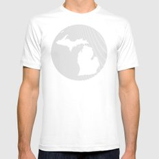 The GREAT LAKES of NORTH AMERICA Mens Fitted Tee MEDIUM White