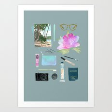 GOING TO HAWAII Art Print