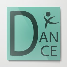 Green Dance Symbol Metal Print