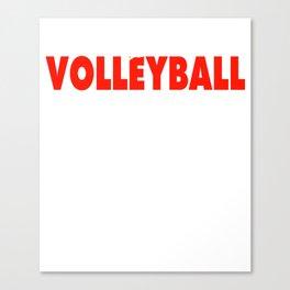 Volleyball T Shirt Canvas Print