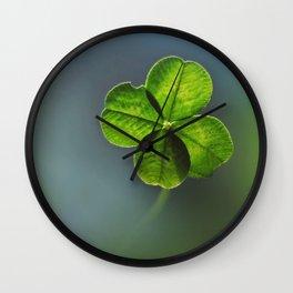 Lucky Four Leaf Clover Wall Clock