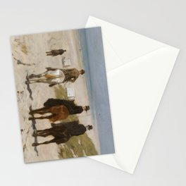 Morning Ride On The Beach - Anton Mauve Stationery Cards