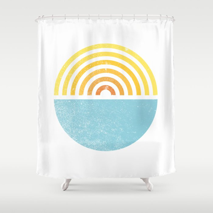 Vinyl Sunset Shower Curtain