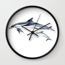 Striped dolphin Wall Clock