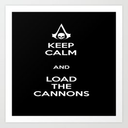 Load the Cannons Art Print