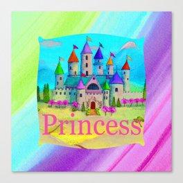 Colorful Princess Castle Canvas Print