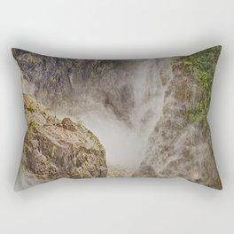 Beautiful waterfall in the rainforest Rectangular Pillow