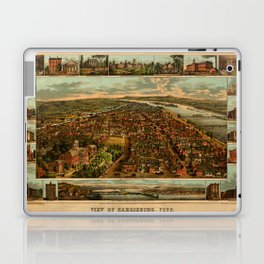 Harrisburg Panorama 1885 Laptop & iPad Skin