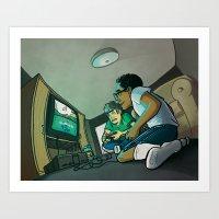 glitch Art Prints featuring Glitch by Drake Sauer