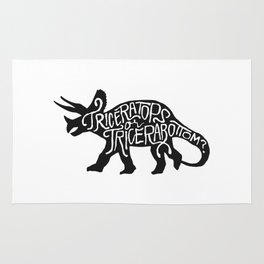 Triceratops or Tricerabottom? Rug