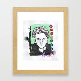 RIP BRAD Framed Art Print
