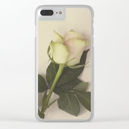 Dusky pink rose Clear iPhone Case