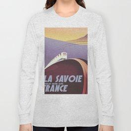 Savoy France train poster Long Sleeve T-shirt