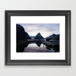 Sunset to die for at Milford Sound Framed Art Print