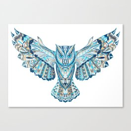 Flying Colorful Owl Design Canvas Print