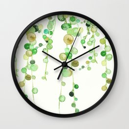 Behind the Vines Wall Clock